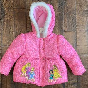 Disney Princess Pink Toddler Girl Coat Size 3